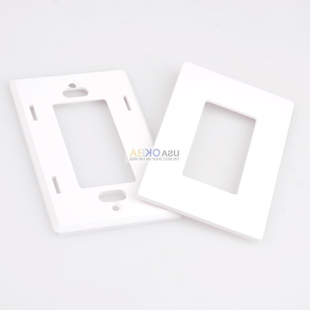 1-4 Gang Screwless Wall Plate GFCI Switch Covers