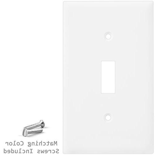 1-Gang Device Wallplate, Standard 10Pk, White