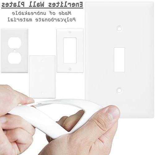 1-Gang Decora/Gfci Wallplate, White