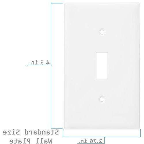 1-Gang Device Decora Wallplate, Standard 10Pk, White