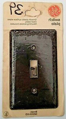 GE 1 Gang Brown Plastic Toggle Device Switch WallPlate GE913