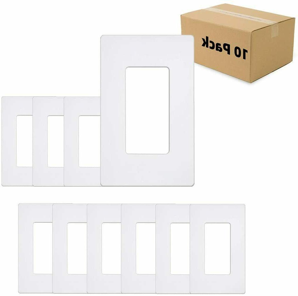 1 gang screwless wall plate standard size