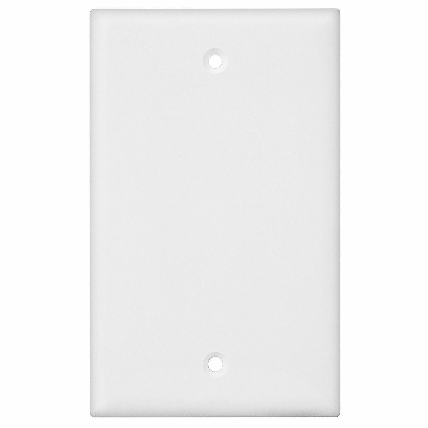 1-Gang Device Cover Wall Plate, White, Pack