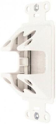 1 Gang Single Cable Access Brush Wall Low Voltage White