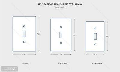 1-Gang Wallplate, Size, Thermoset, Device Leviton