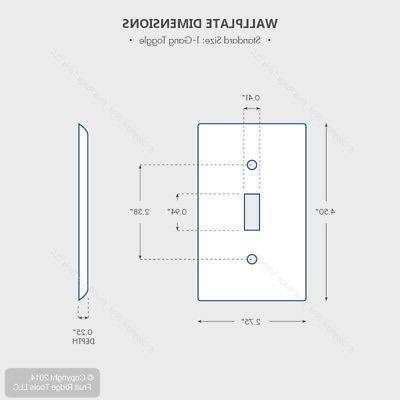 1-Gang Wallplate, Standard Device Gray - Leviton - 87001