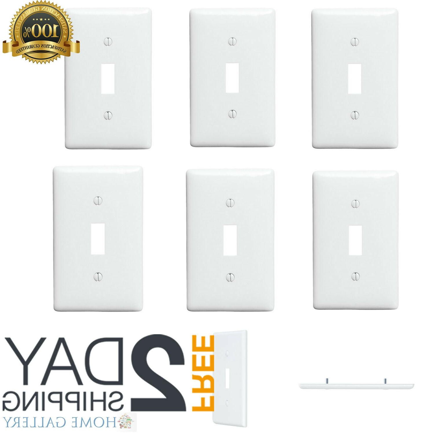 1-Gang Wall Plate White Pack Plastic Cover