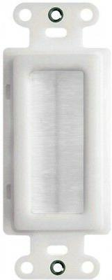 Legrand 1-Gang White Single Cable Access Brush Wall Plate