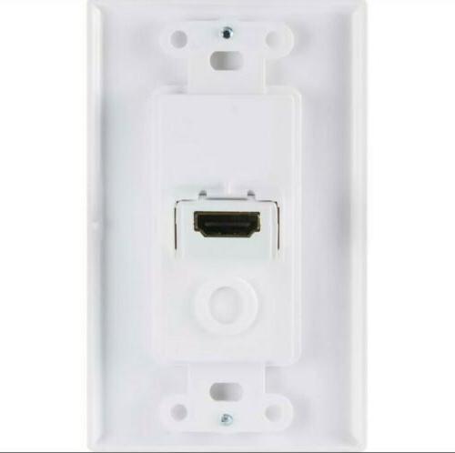 GE 1-Gang White Single Wall Plate 35291