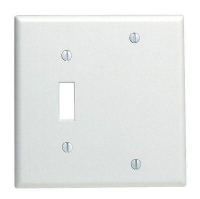 2-Gang Wall Plate Cover White Toggle switch Blank Lexan Unb