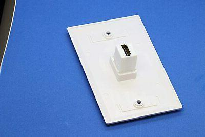 1-Port Face Plate Panel Cover Outlet Extender