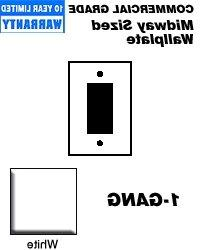 Leviton 1 Socket Commercial Grade Midway Faceplate - 1 x Soc