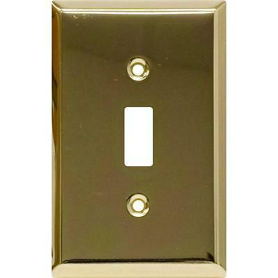 1 toggle switch wall plate 52104 plated