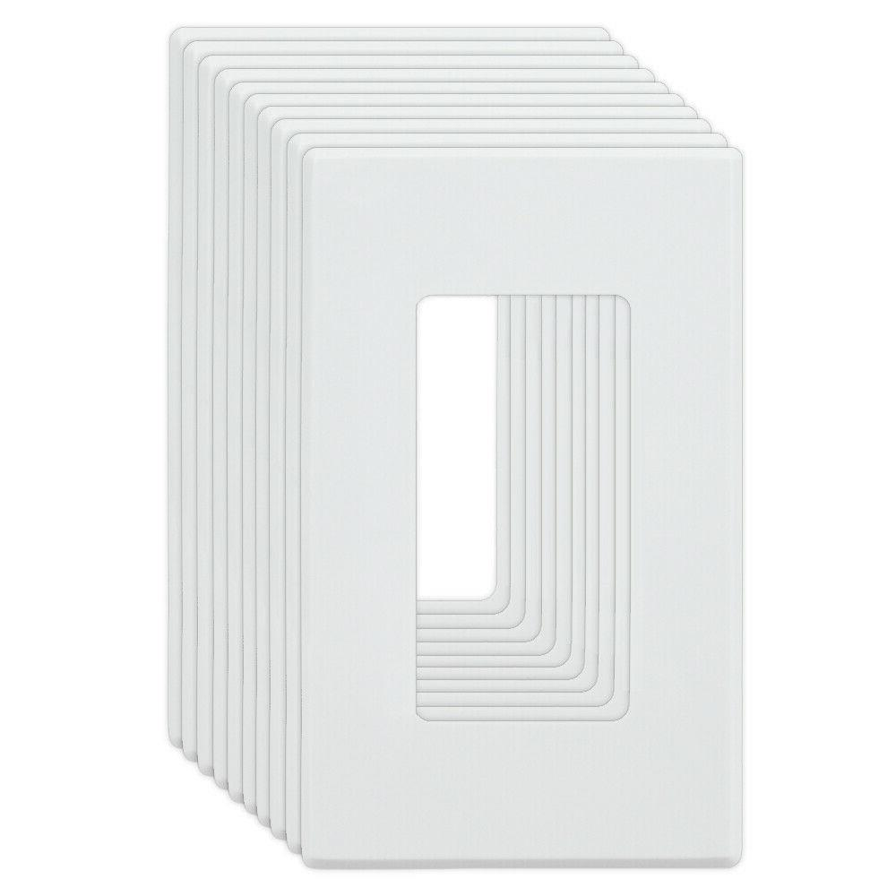 10 pack 1 gang screwless wall plate