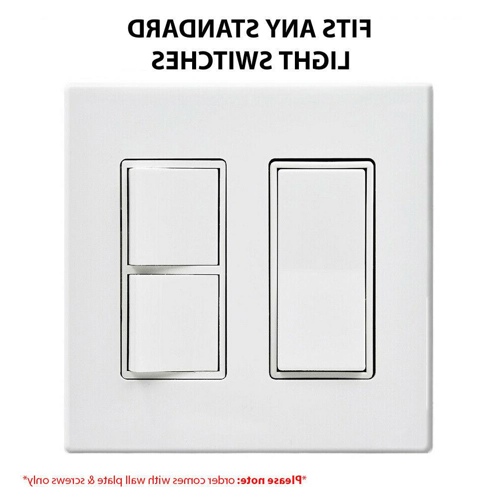 10 Screwless Wall Plate Covers for Switches and - Decorator
