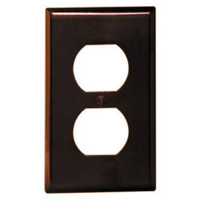 10 pack brown single gang receptacle outlet