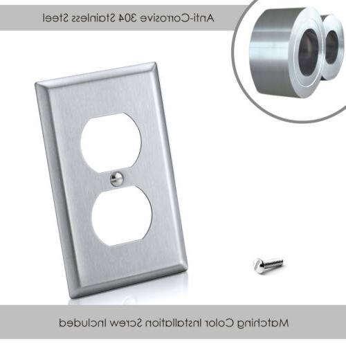 10PK 1-Gang Steel Wall Metal
