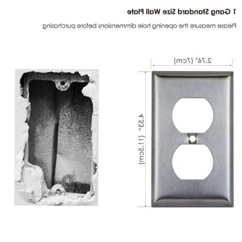 10PK 1-Gang Steel Duplex Wall Metal