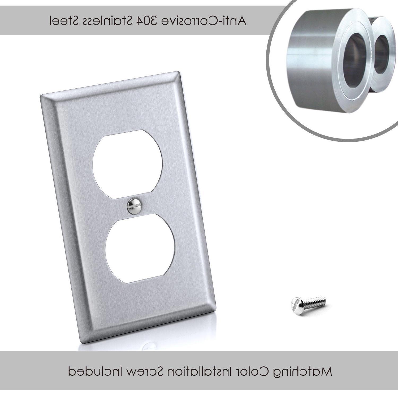 10PK BESTTEN Stainless Steel Duplex Plates Metal