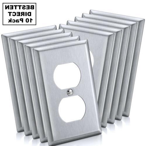 10PK Steel Duplex Plates Metal