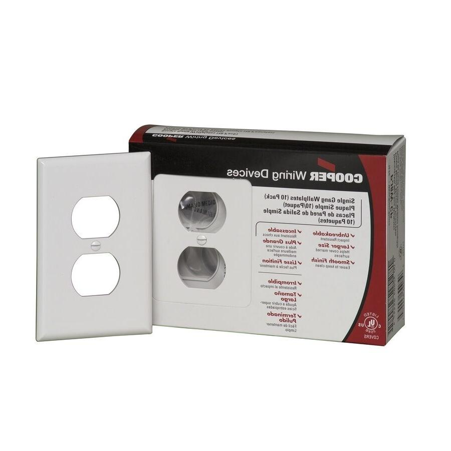 10 Electrical Wall Face Plate Single Duplex Receptacle