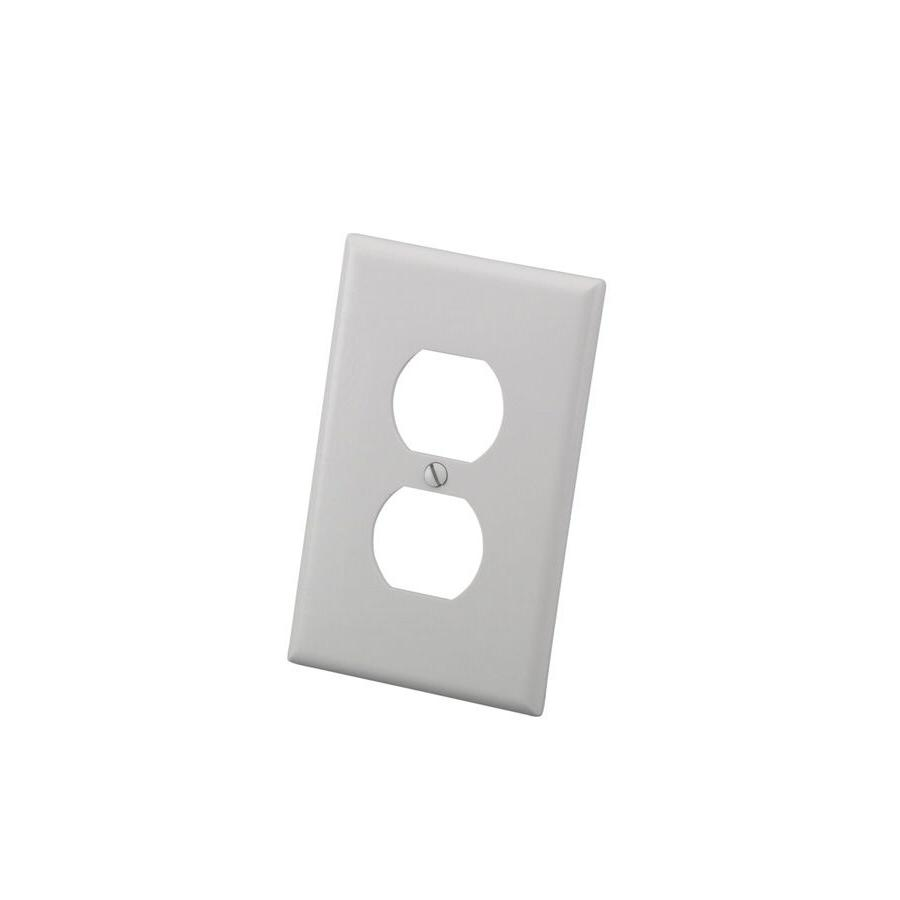 10 Wall Face Plate Cover Single WHITE