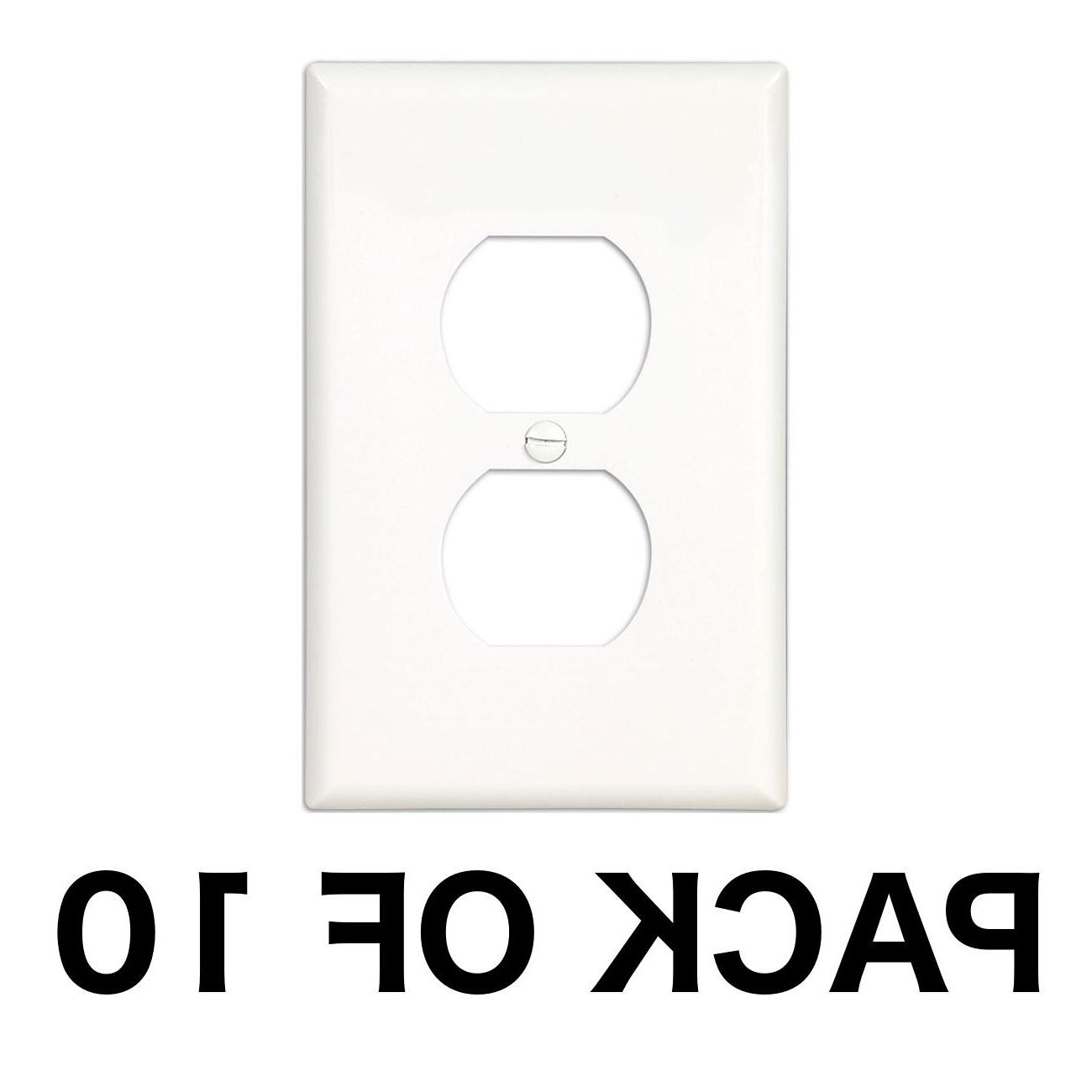 10 pack electrical outlet wall face plate