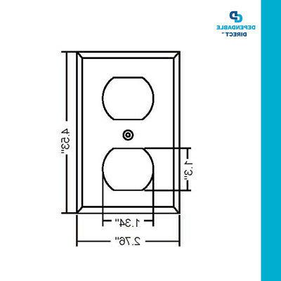 10 Single-Gang Duplex Receptacle Plate UL White