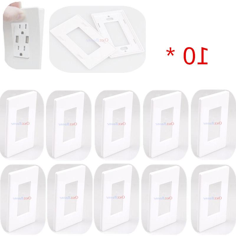 10 pcs gang switch cover decorator screwless