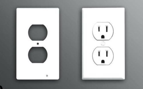 10 pieces receptacle wall plate plastic outlet