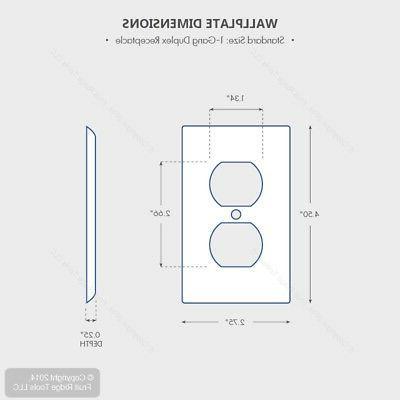 10 Leviton UNBREAKABLE Receptacle Wallplate Duplex Covers 80703-W