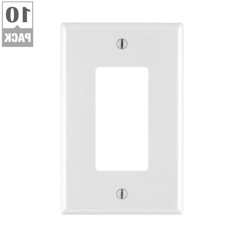 Leviton 10 White Decora Midway Nylon Wall Plate Cover Switch