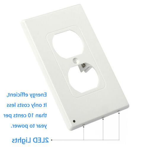 10Pcs Led Night Angle Light Guidelight Cover Built in Sensor