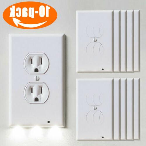 10pcs outlet wall plate led night angle