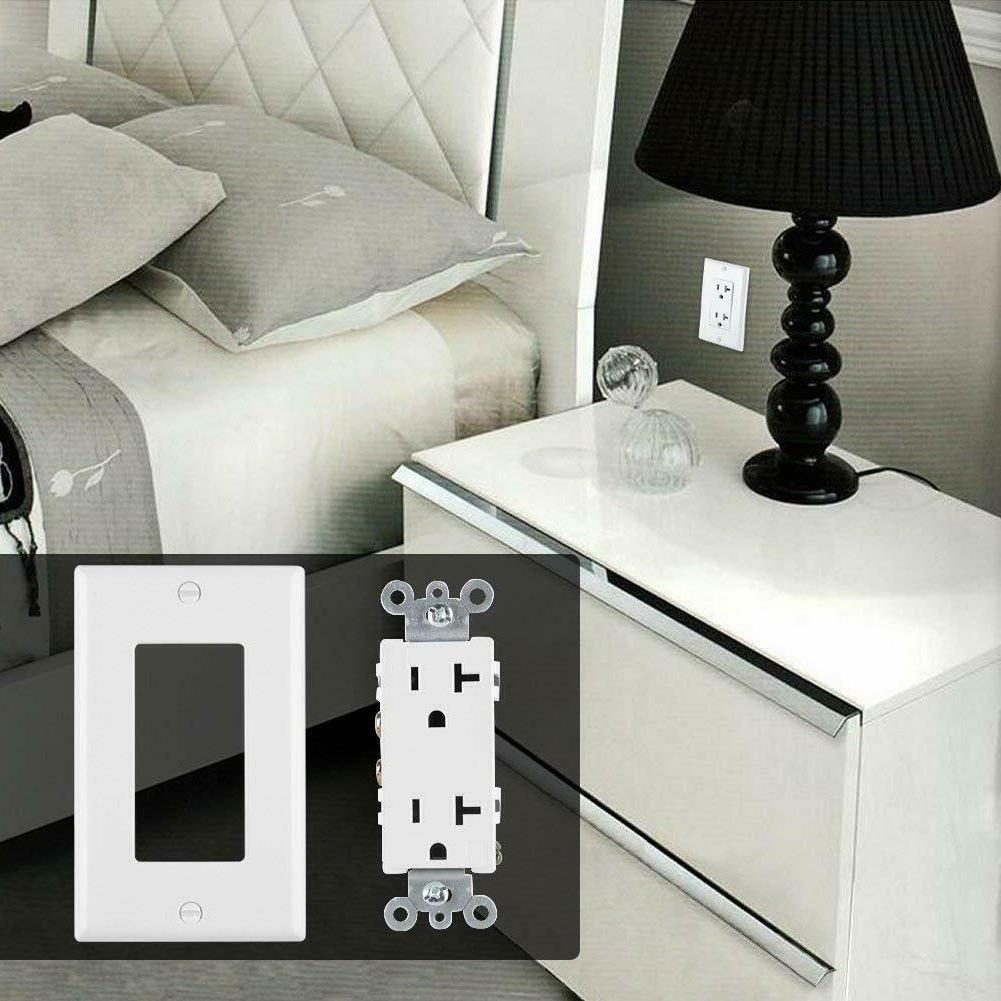 10PK 20A Amp RECEPTACLE ELECTRICAL WALL OUTLET PLUG w/ Plates