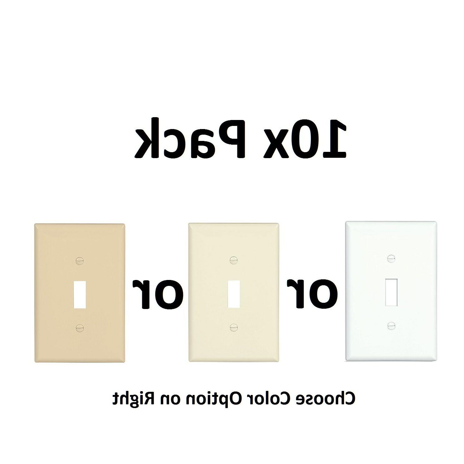 10x-pc White Almond Ivory Beige Single Electrical Light-Swit