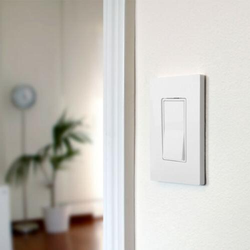 BESTTEN Screwless Wall Plate Cover Snow-White UL