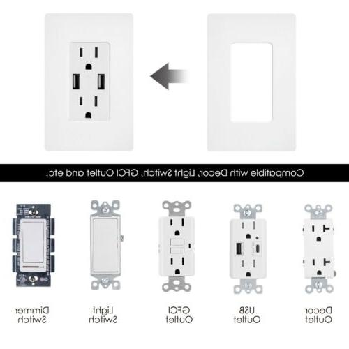 BESTTEN 1-Gang Wall Plate Switch Outlet