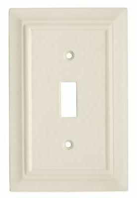 Brainerd  Light Almond Single Toggle Light Switch Cover **NE