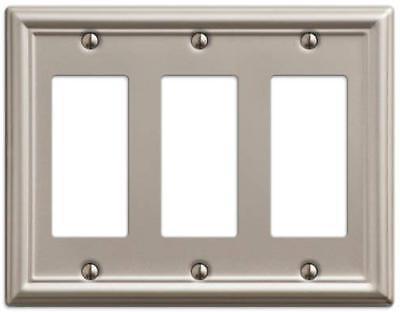 149rrrbn chelsea steel triple rocker gfci wallplate