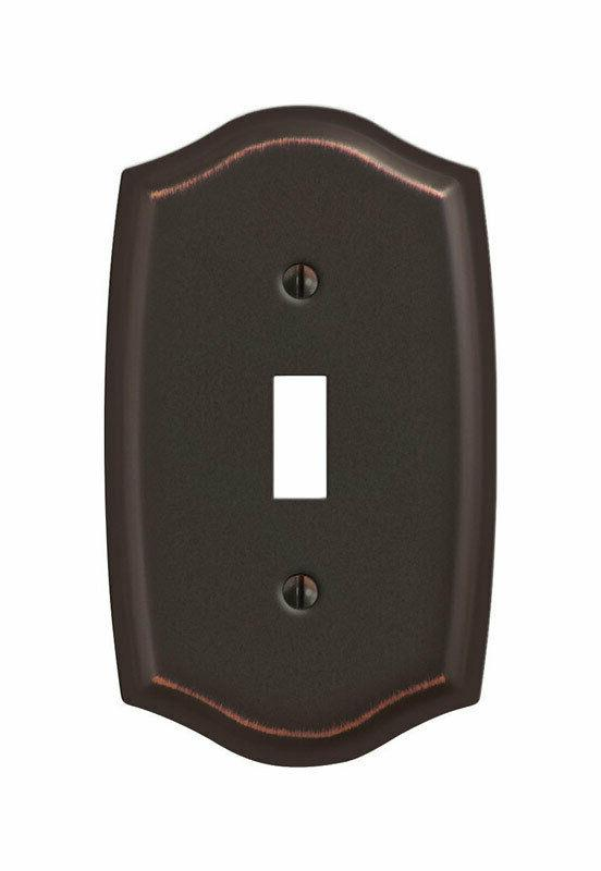 Amerelle 159TDB Sonoma 1 Toggle Wall Plate, Aged Bronze