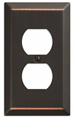 Amerelle 163DDB Traditional Steel Wallplate with 1 Duplex Ou