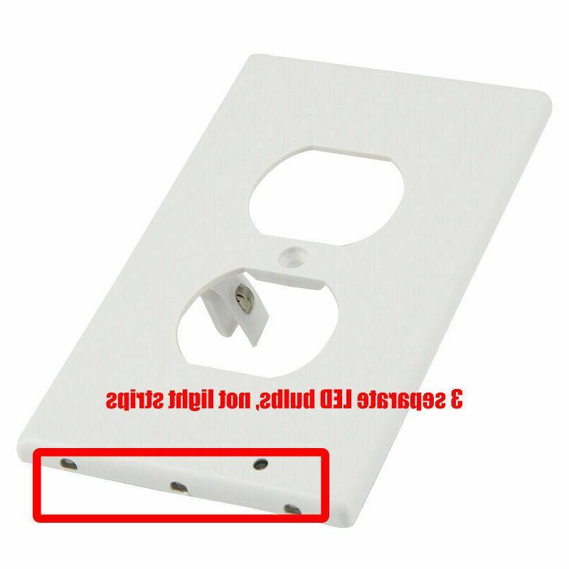 2/3//5/10/20Pcs Duplex Outlet Sensor LED