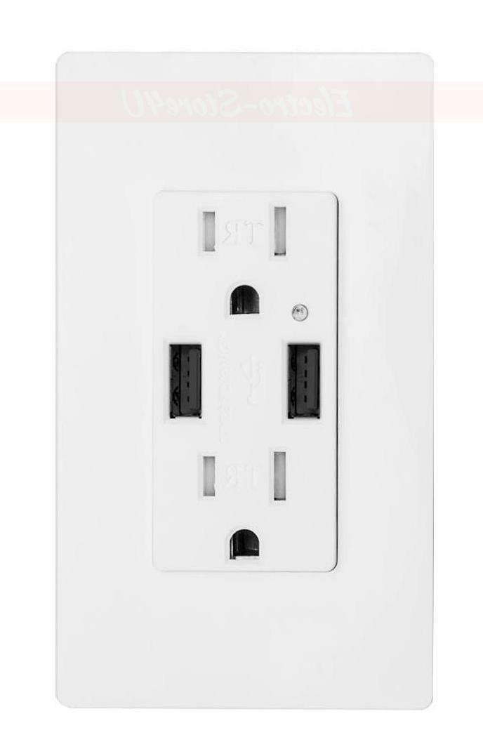 2 dual usb ports wall plate 2