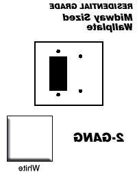 Leviton 80608-W 2-Gang 1-Blank 1-Decora/GFCI Device Combinat