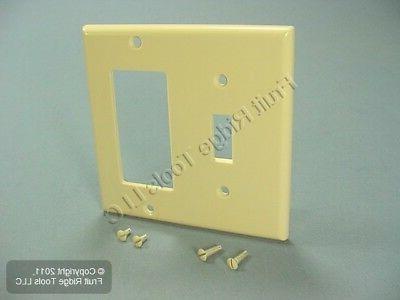 Leviton 80405-I 2-Gang 1-Toggle 1-Decora/GFCI Device Combina