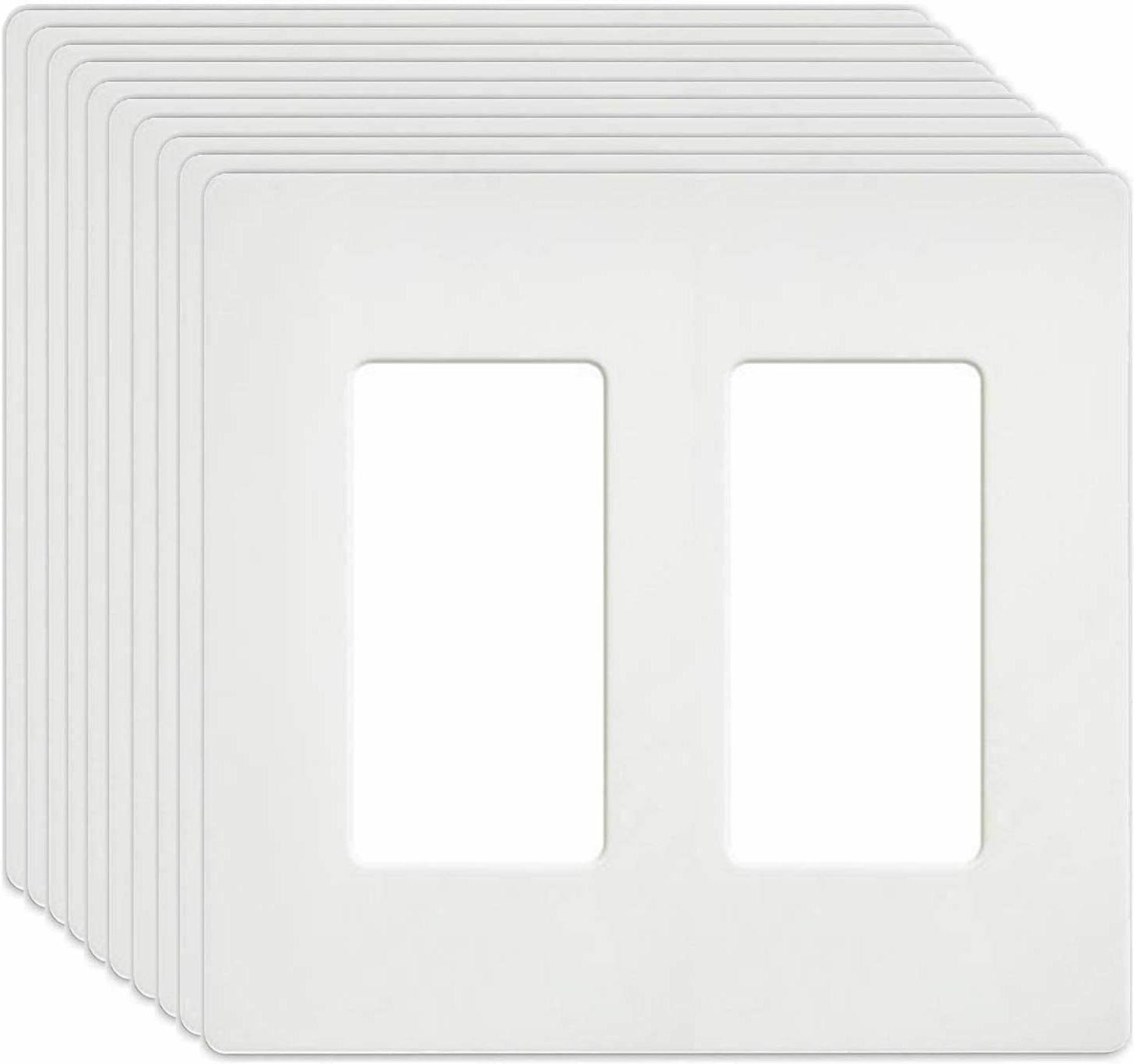 2 gang wall plates standard screwless unbreakable
