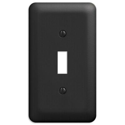 2-Pack Toggle Switch Wall Plate Steel Wallplate,
