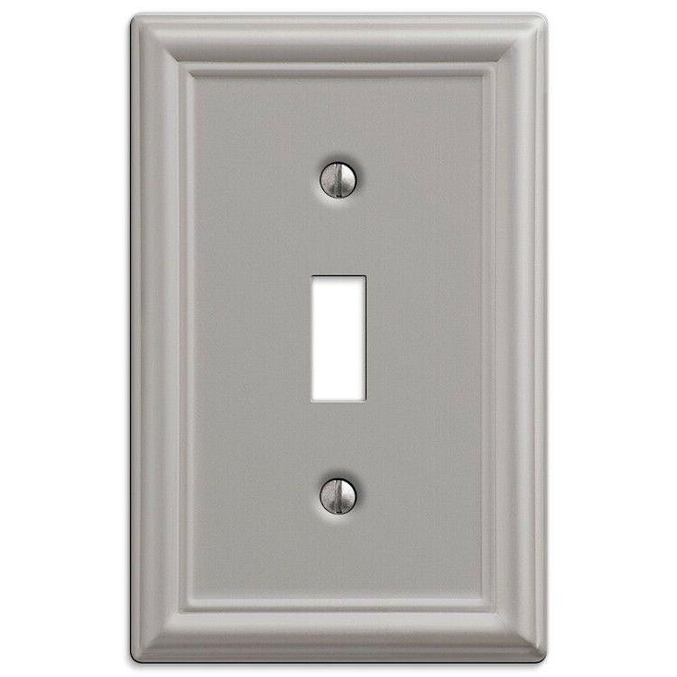 2-Pack Toggle Wall Plate Light Wallplate, Brushed Nickel