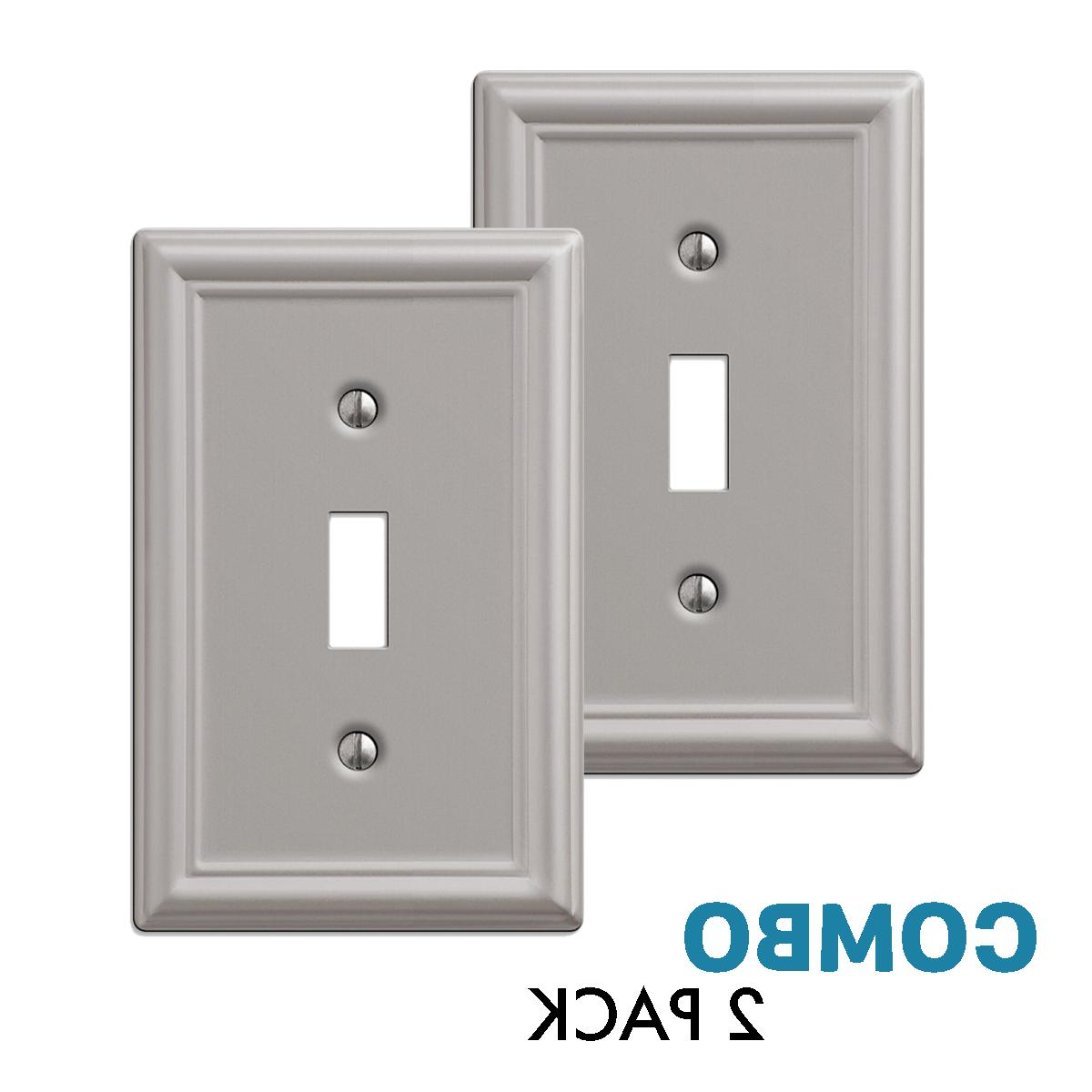 2 pack toggle wall plate light switch